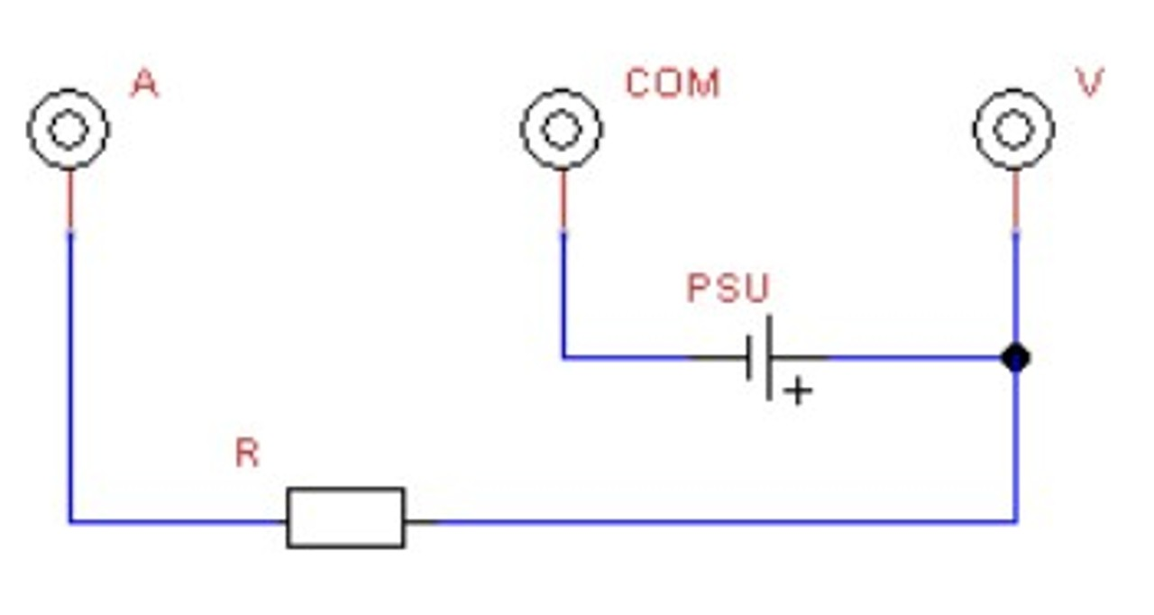 Display current and voltage measurement at the same time - PSU