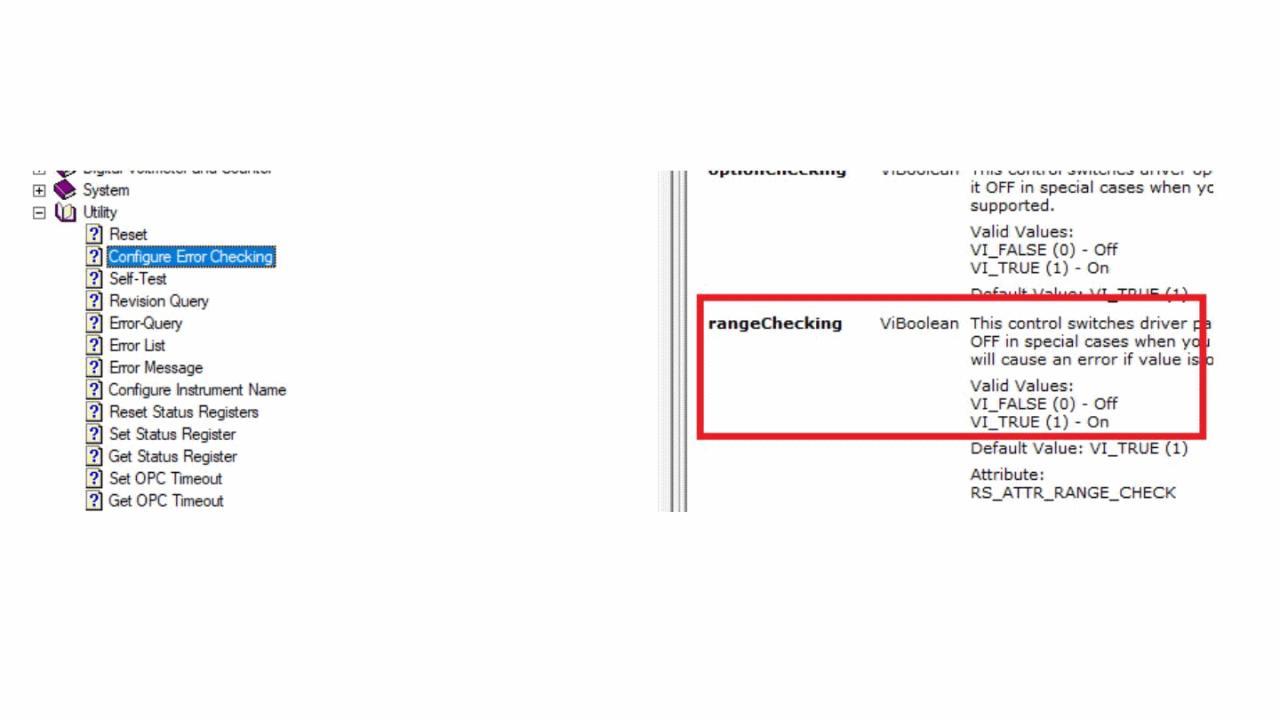 LabView Driver rsrtx - Range of Configure Trigger Channel Level