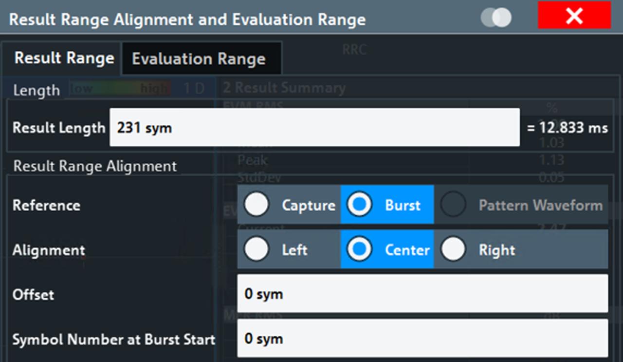 Result range alignment