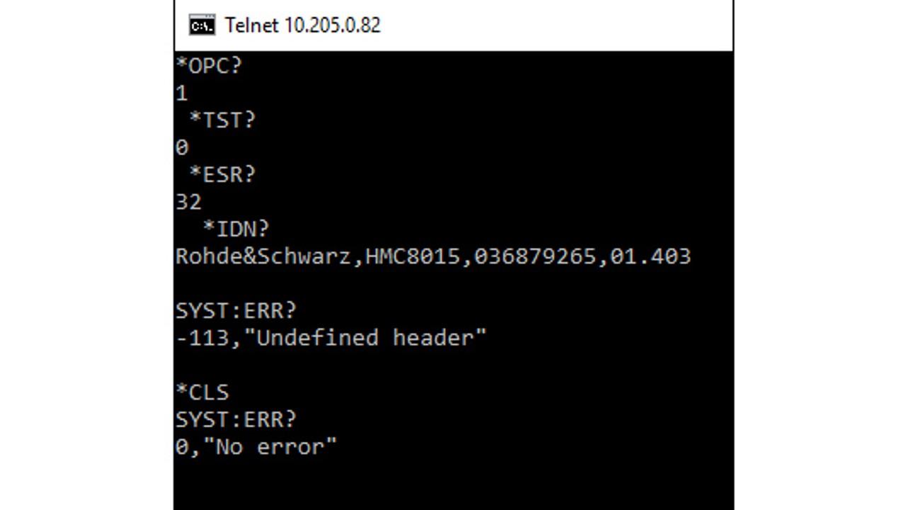 Using telnet for remote control in WIN10