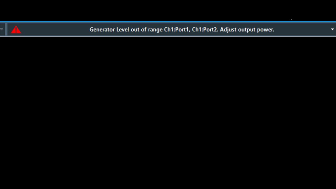 ZNL displays generator level out of range