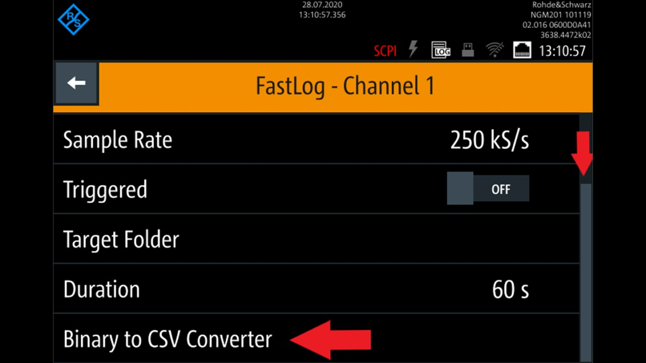 Binary to CSV converter