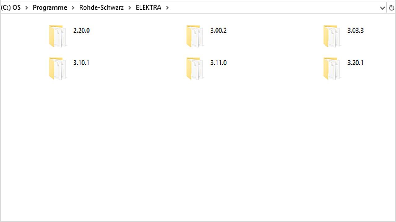 ELEKTRA program files