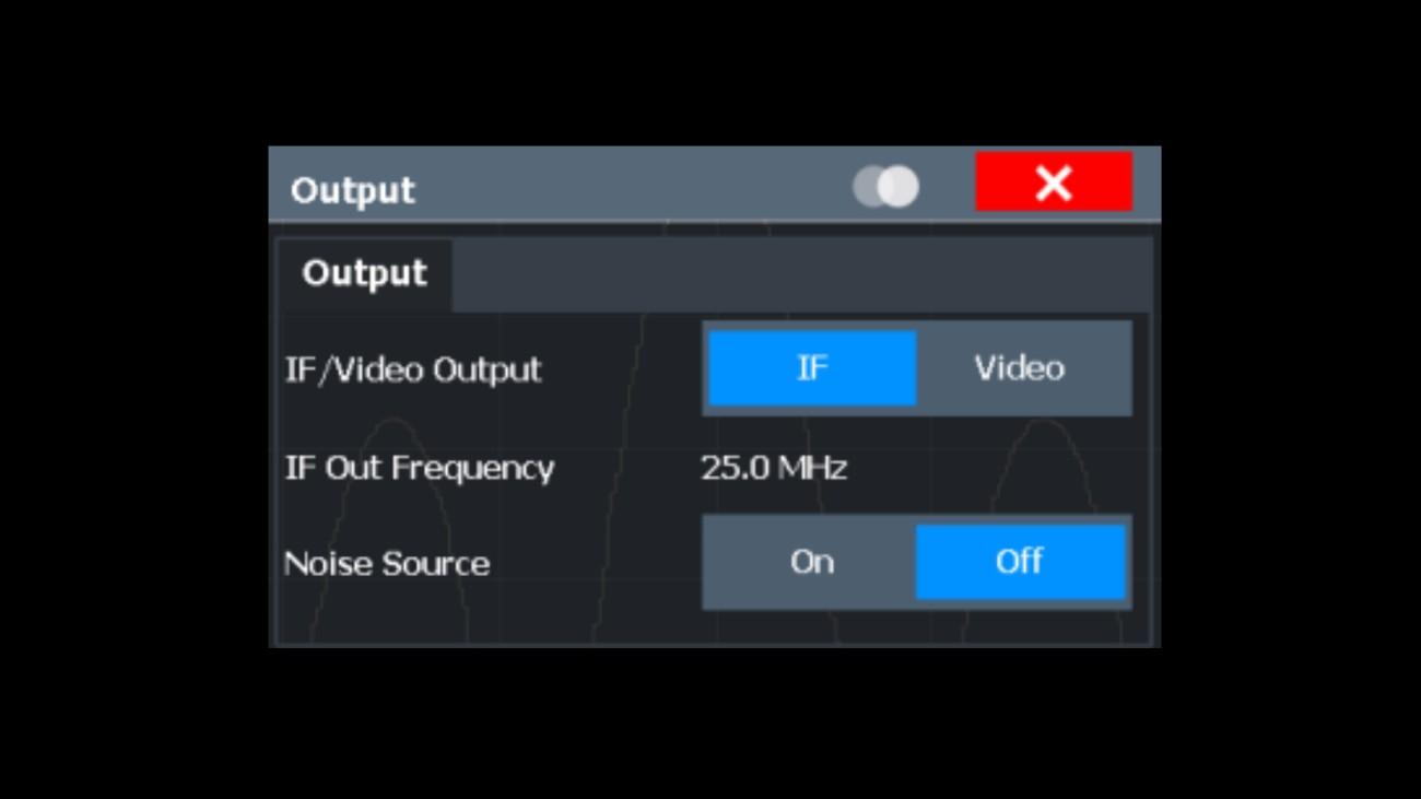 Output selection