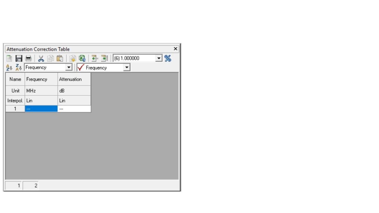 EMC32: Add attenuation table to Signal Path - screen 2