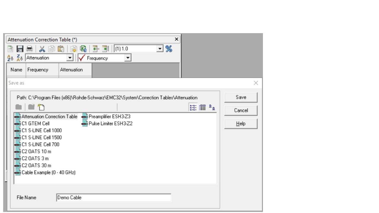 EMC32: Add attenuation table to Signal Path - screen 4