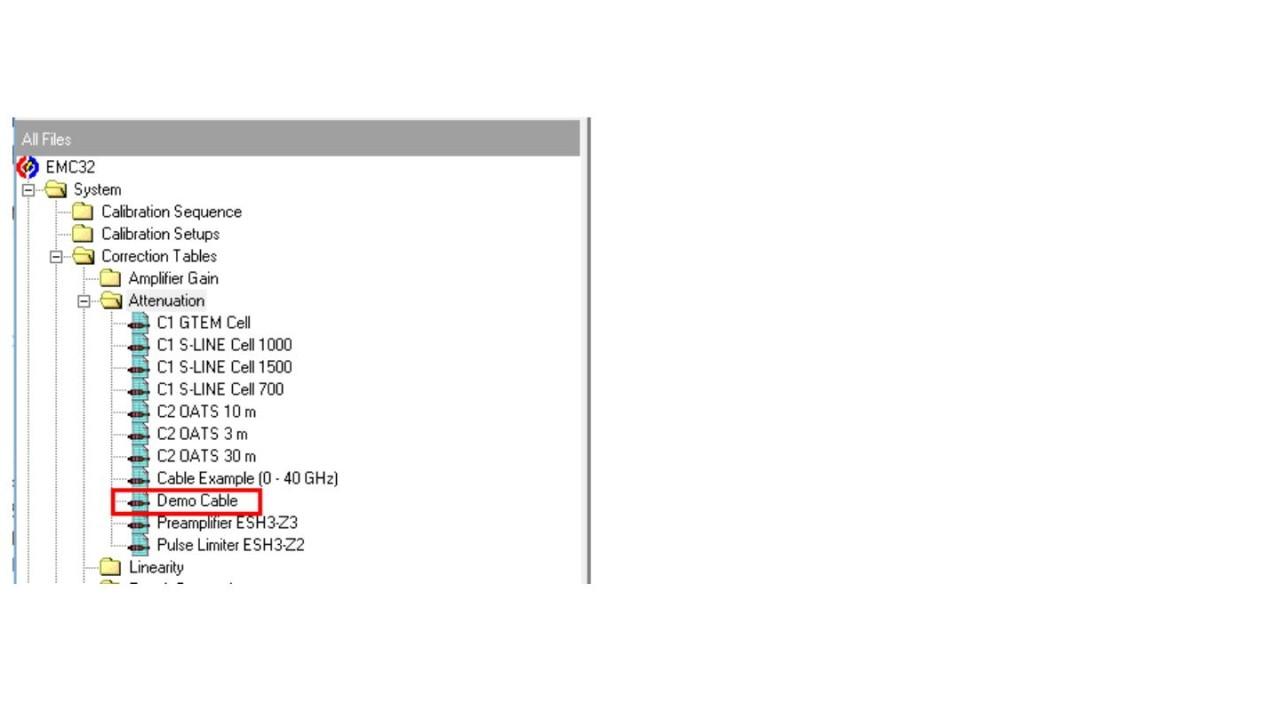 EMC32: Add attenuation table to Signal Path - screen 5