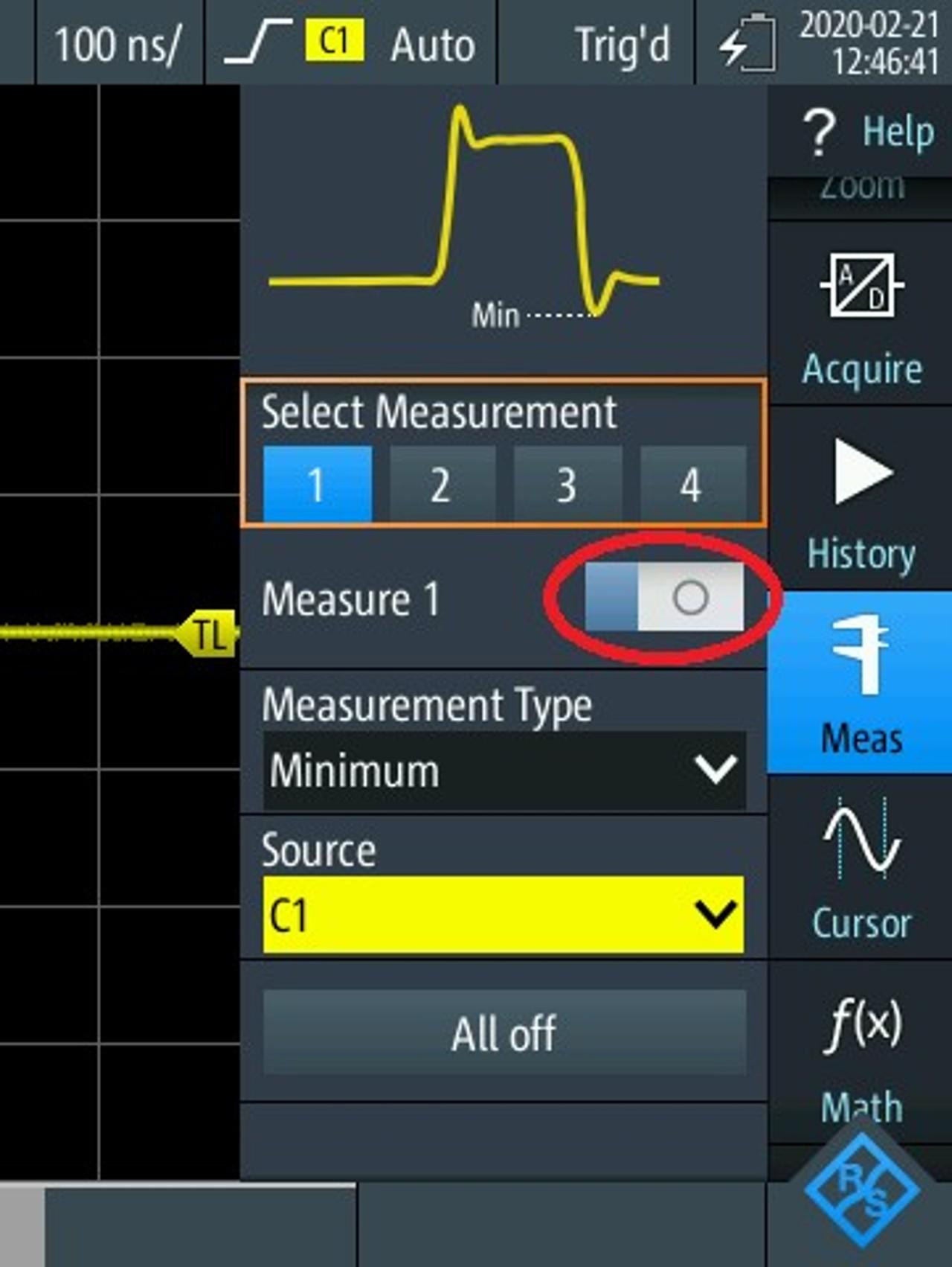 Comment utiliser le 'MODE' , 'Logger' avec la fonction oscilloscope du RTH scope rider