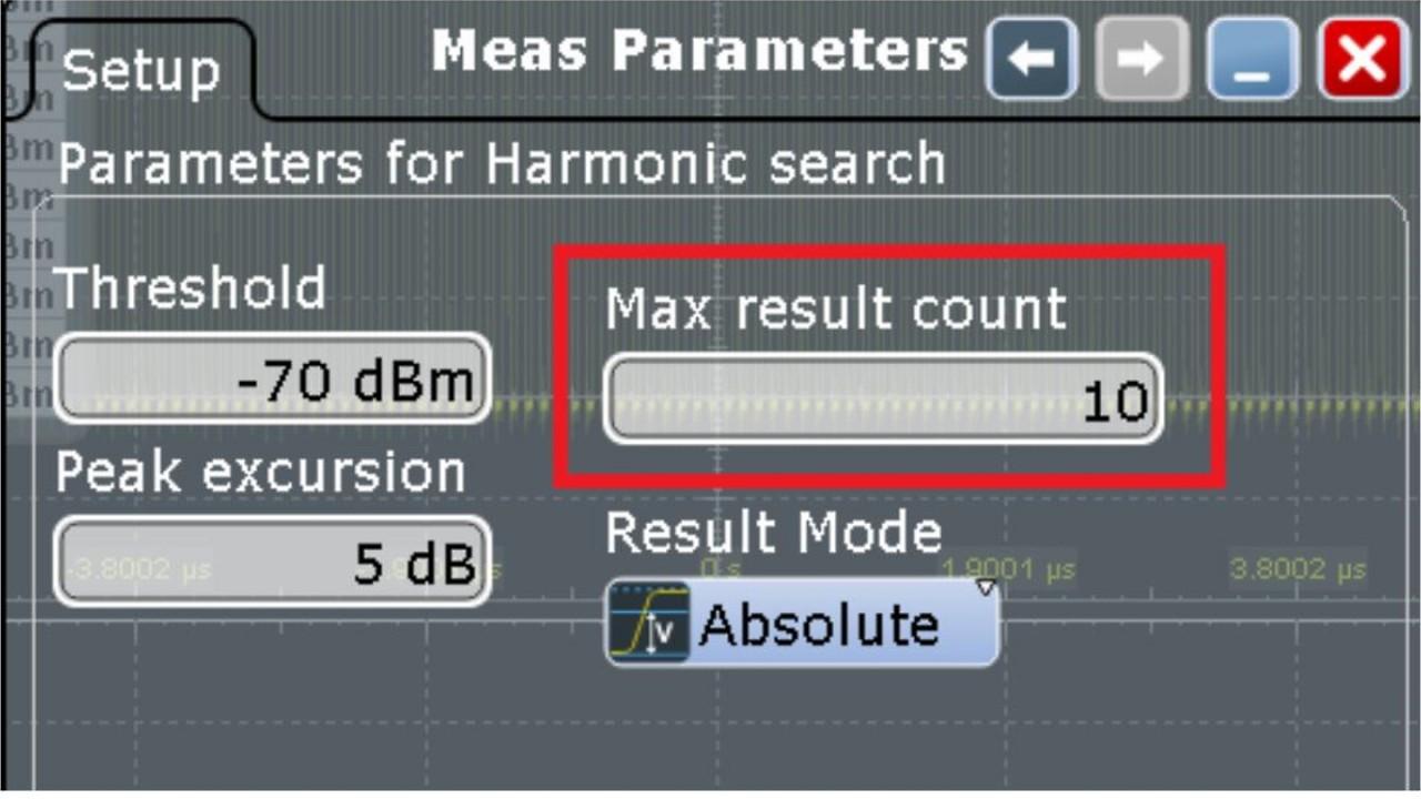 Meas Parameters